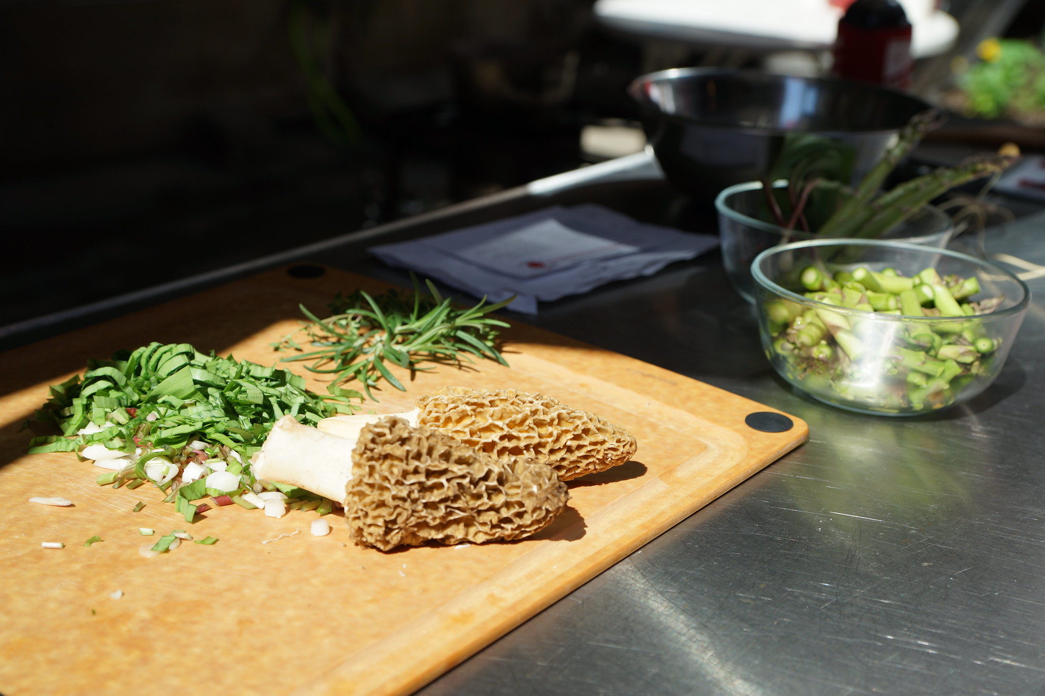 Morels for Wild rice Risotto