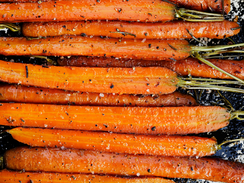 Honey Roast Carrots with Lavender recipe