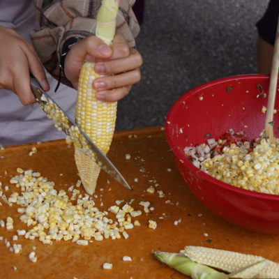 Corn, Tomato, Mint Salsa