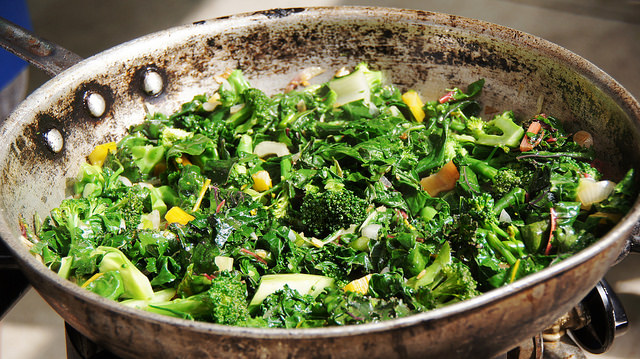 Spring Greens with Miso Dressing