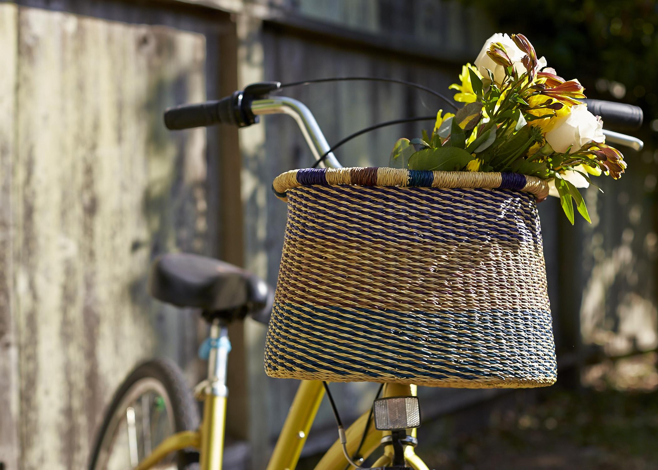 House of Talents handwoven bike basket_multicolor