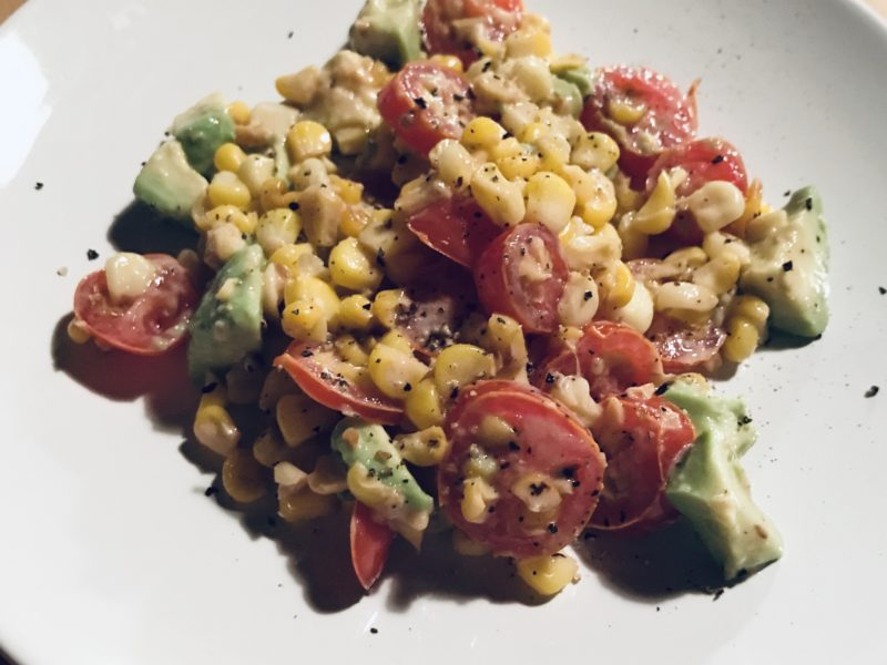 4. Corn, tomato, and avocado salad