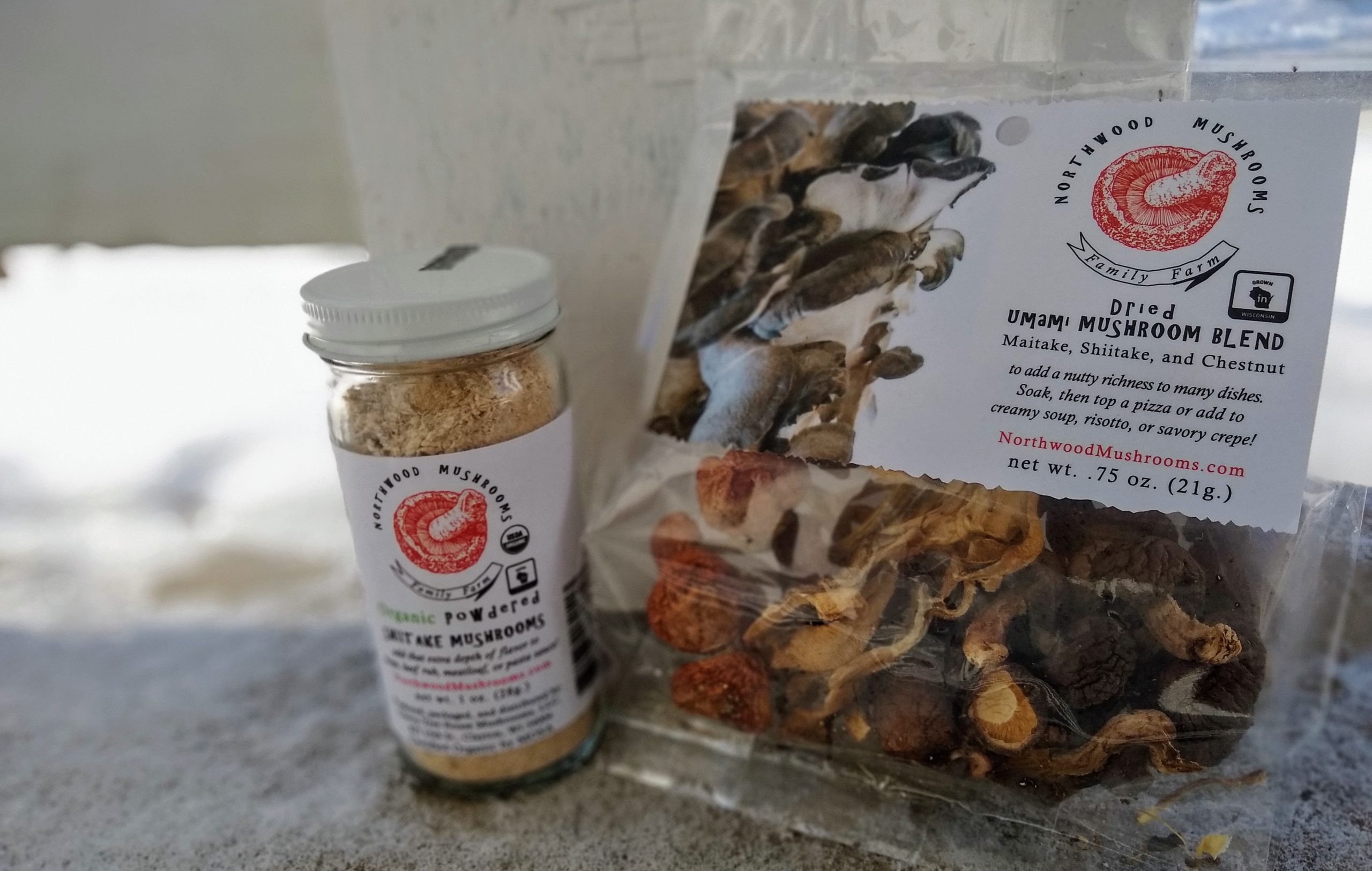Northwood mushrooms dried products