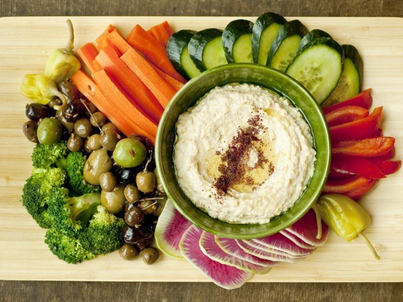 Homemade Hummus Platter