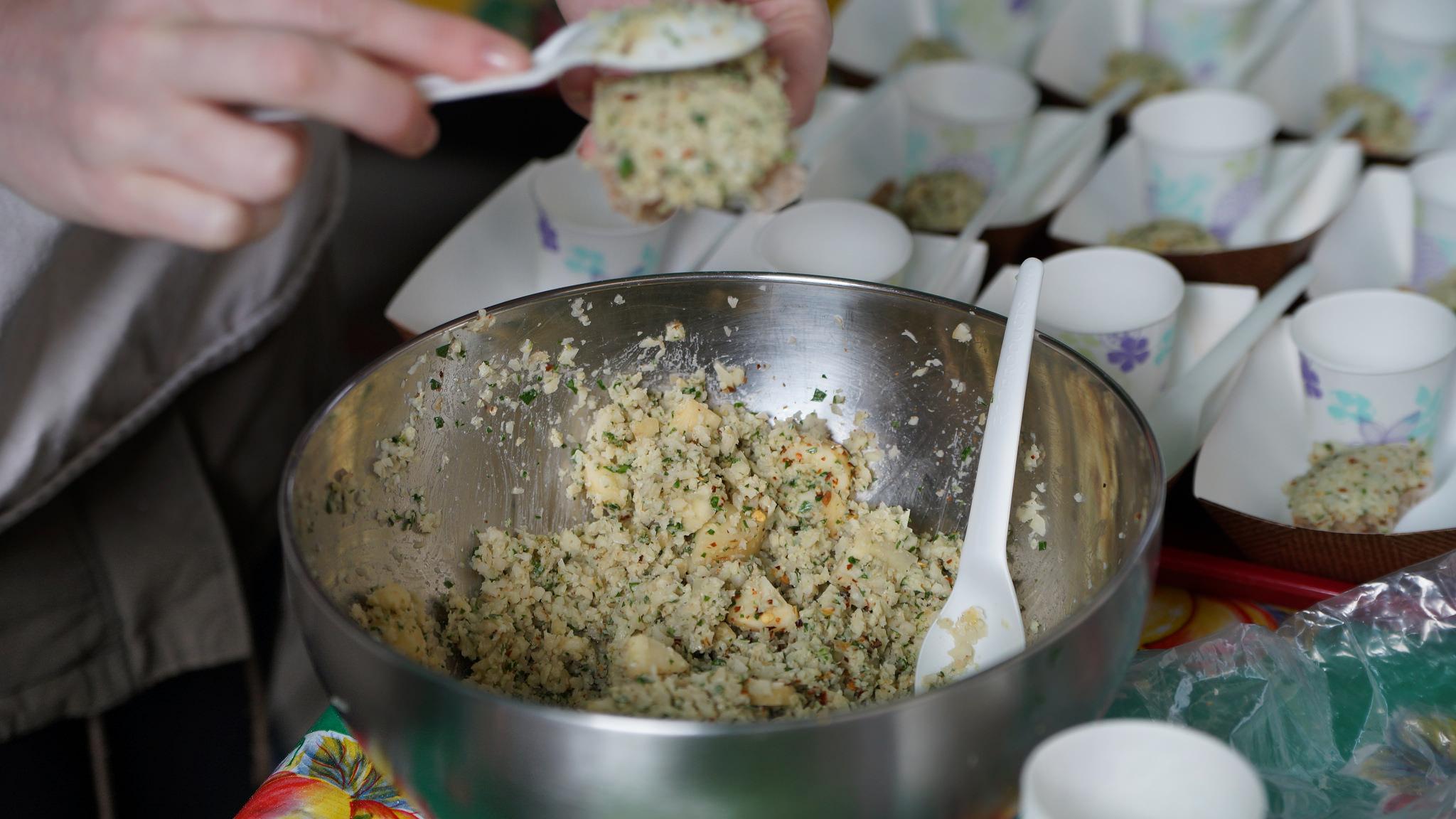 Parsnip Walnut Spread bread