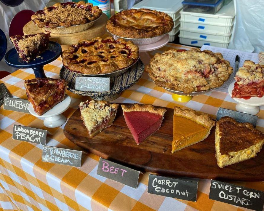Vikings & GOddesses pies at market