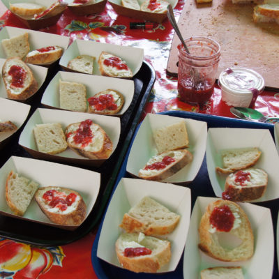 Hot and Tangy Strawberry Jam on bread