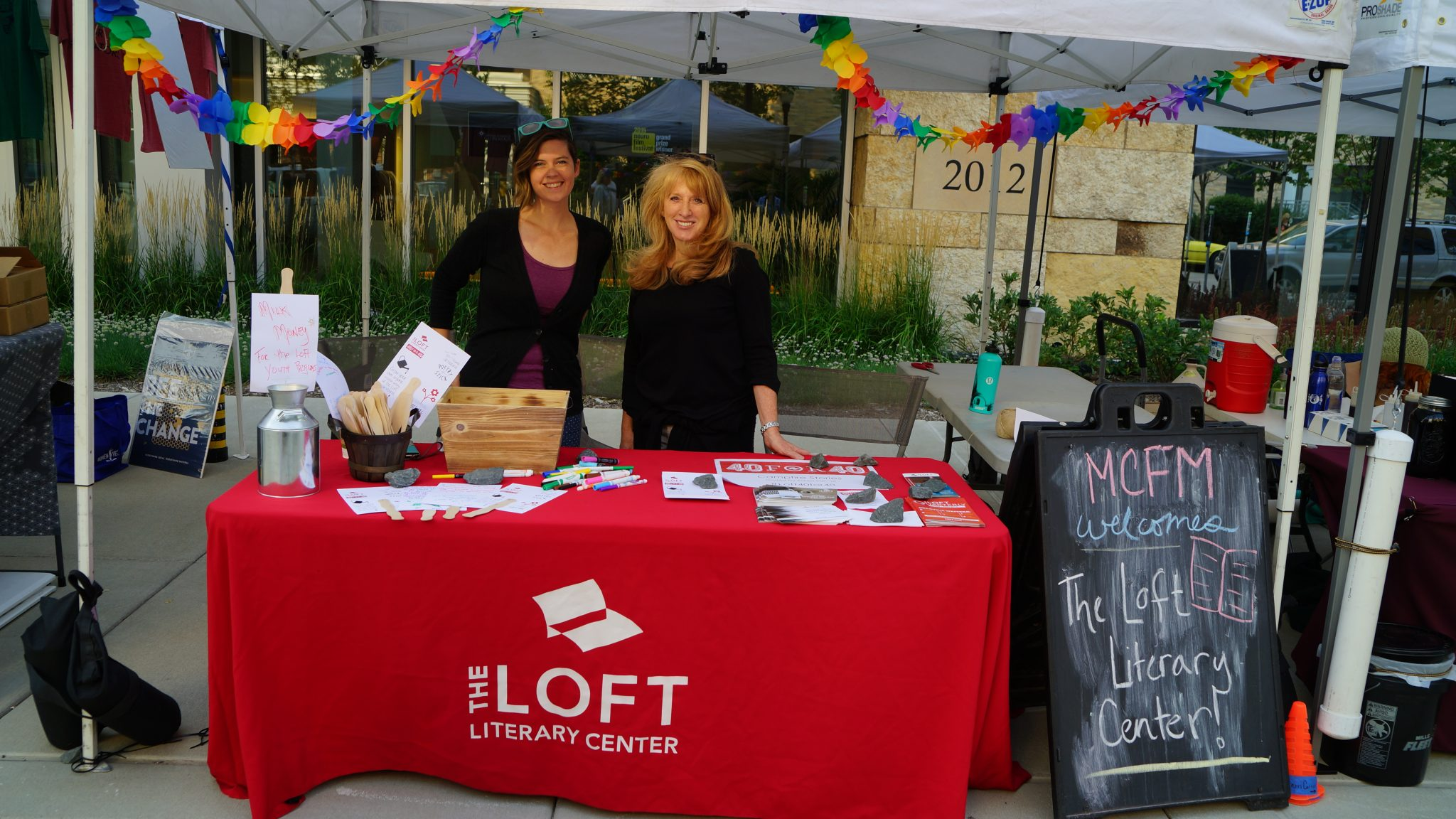 Community Booths the Loft Literary