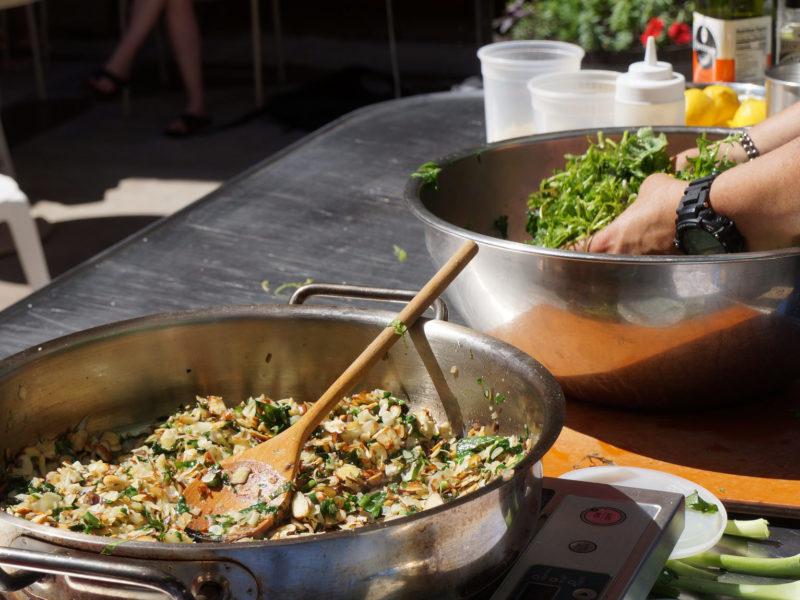 Wild Rice Salad on cart