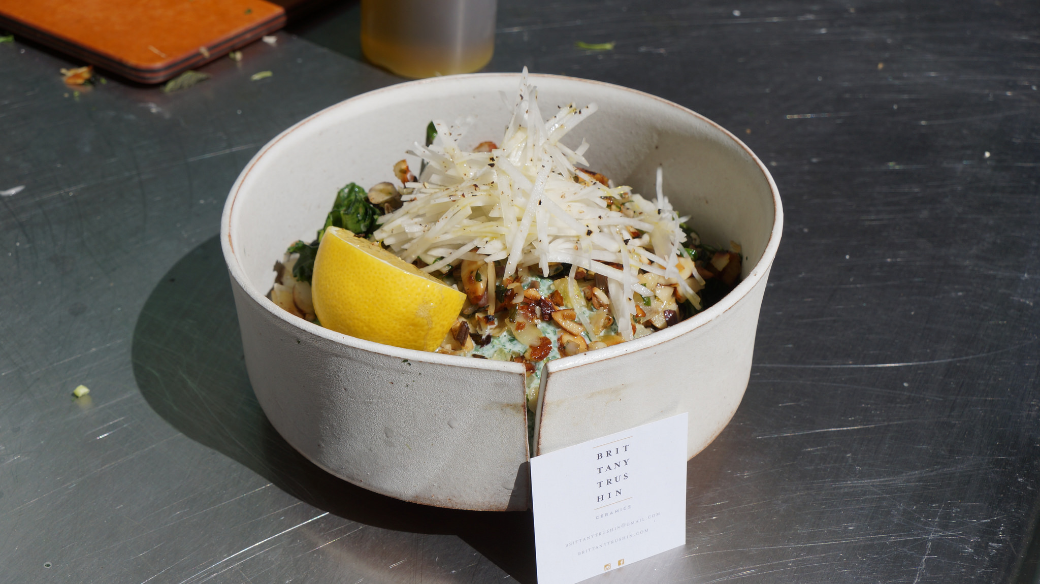Wild rice salad in bowl