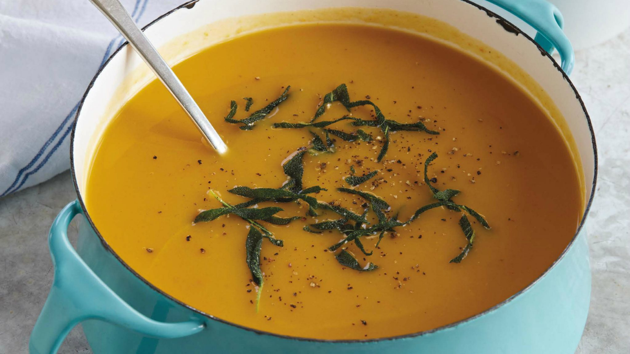 Winter Squash Soup with Sage