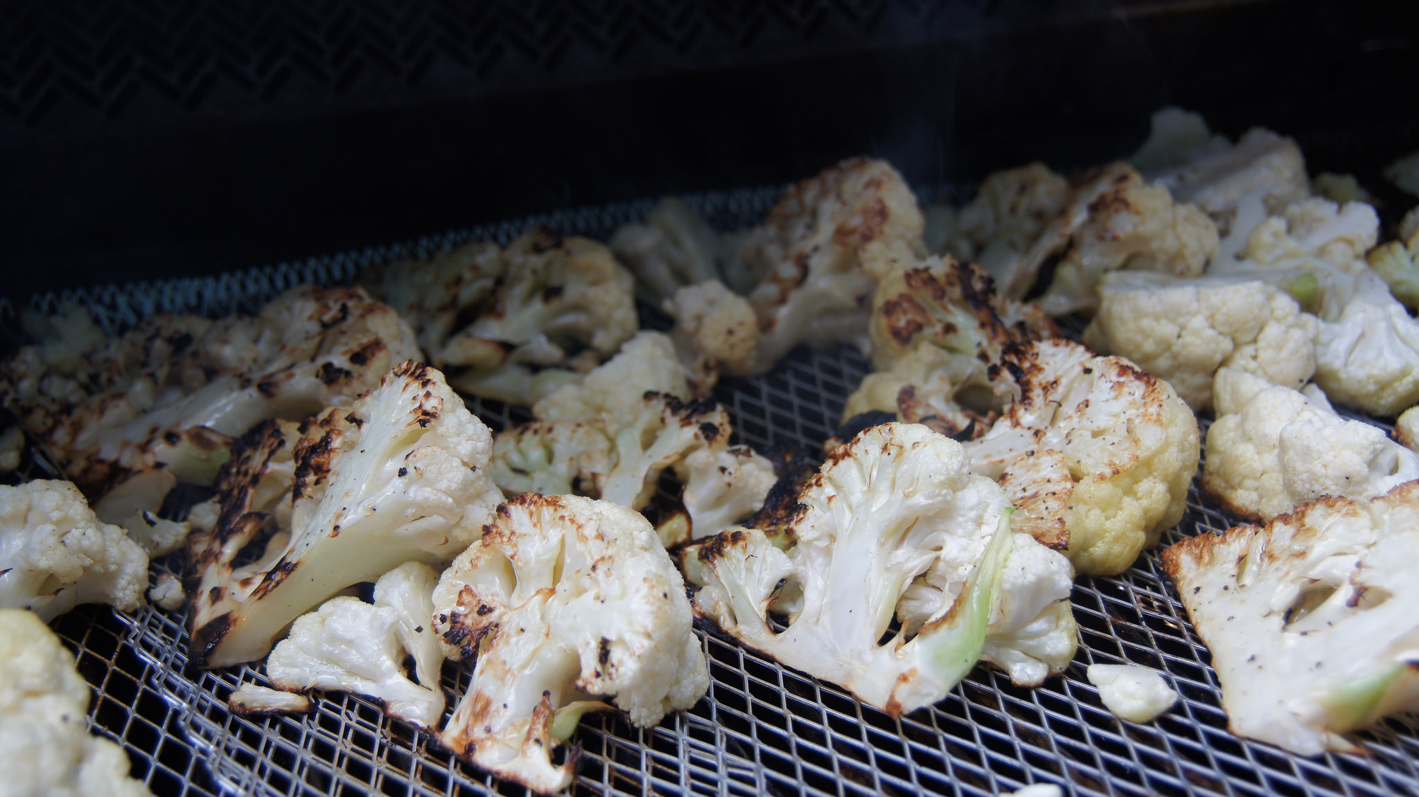 Charred Cauliflower Steaks on the Grill