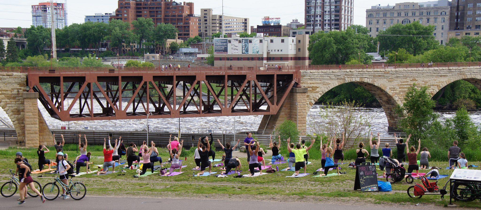 Market Yoga on Mississippi River Day