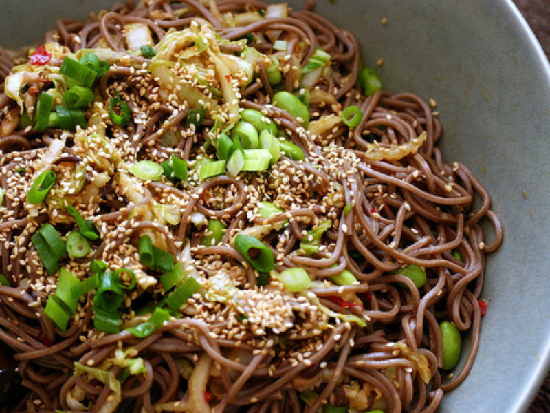 Spicy Peanut Butter Noodle Salad