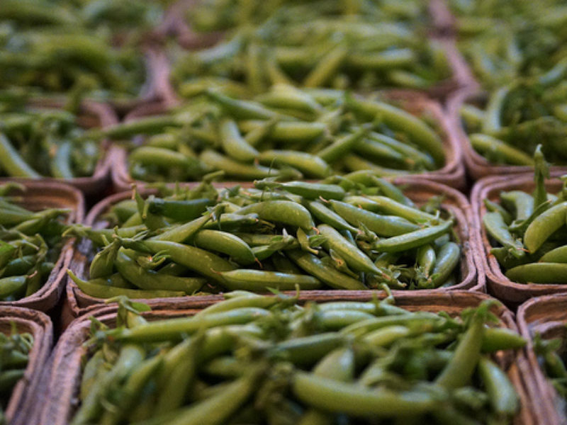 Dijon sugar Snap peas