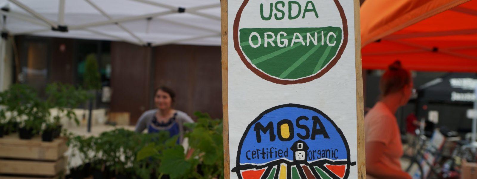 Sustainability Statement USDA Organic Sign